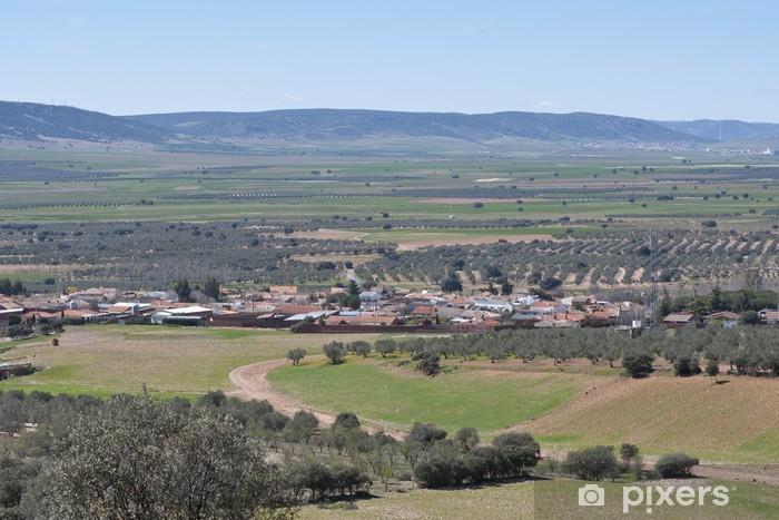 Fototapeta winylowa Typowe małe miasteczko w La Mancha, Hiszpania - Rolnictwo