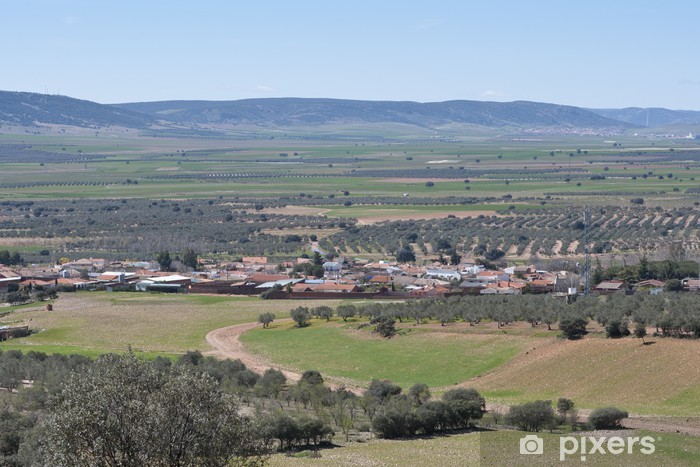 Papier peint vinyle Petite ville typique de La Mancha, Espagne - Agriculture