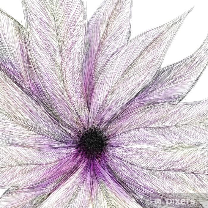 Adesivo Pixerstick Fiore verniciato rosa - Sfondi