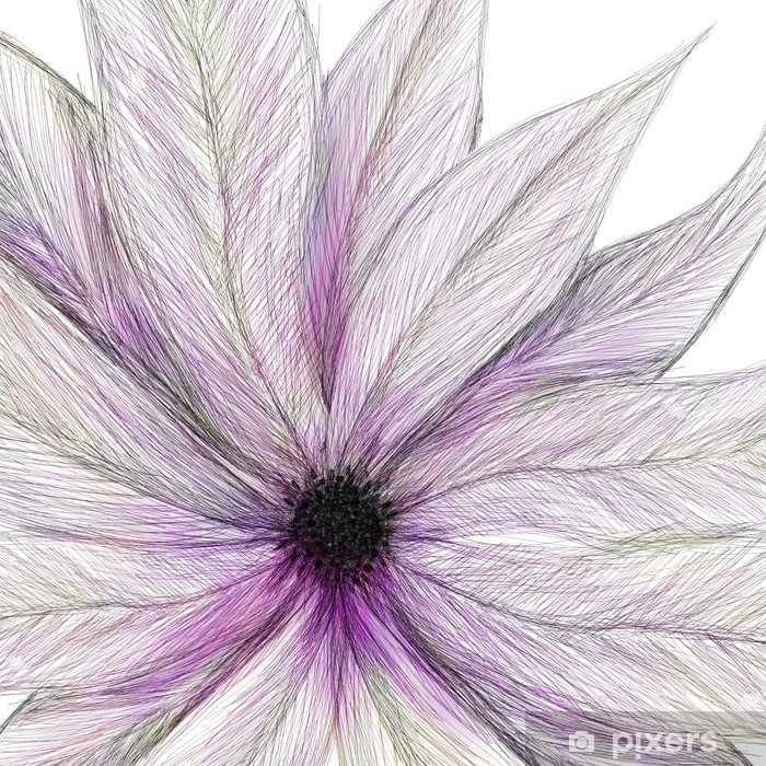 Papier peint vinyle Peint fleur rose - Arrière plans