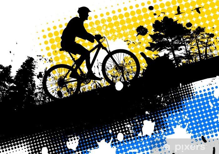 Mountain bike and nature Pixerstick Sticker - Cycling