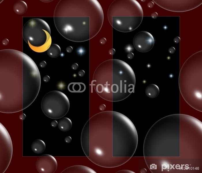 Sticker Pixerstick Seifenblasenträume dans sternenklarer Nacht - Autres sentiments