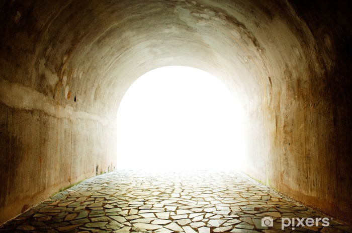 Carta da Parati in Vinile Tunnel con la luce proveniente dal casello. - Temi
