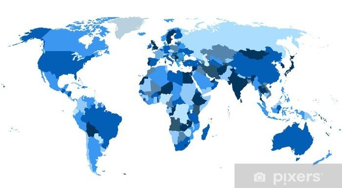 Carte Du Monde Continents.Sticker Continents De La Carte Du Monde Pixerstick