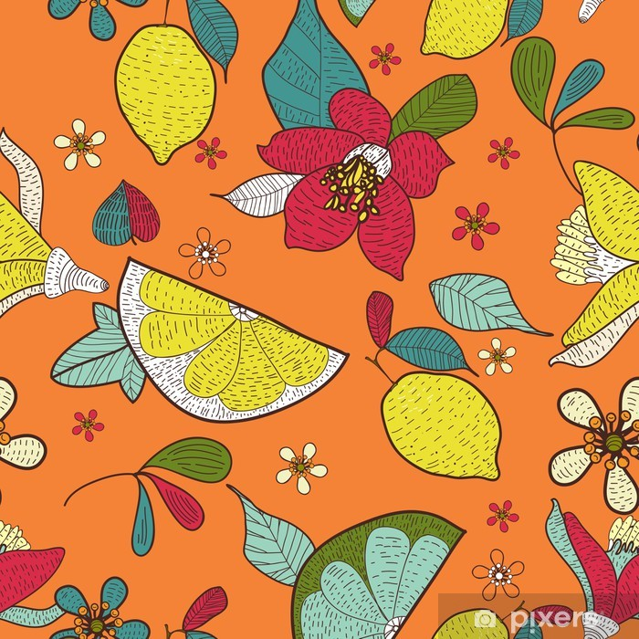 Fotomural Estándar Textura floral sin fisuras - Fondos