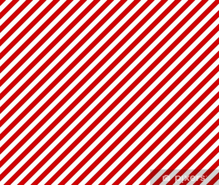 Sticker Pixerstick Rayures blanches et rouges diagonales comme toile de fond - Arrière plans