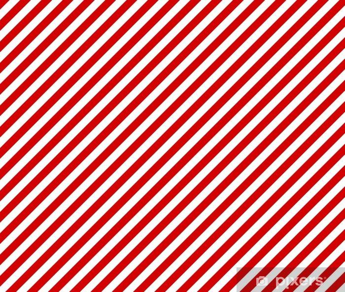 Weiße und rote diagonale Streifen als Hintergrund Pixerstick Sticker - Backgrounds