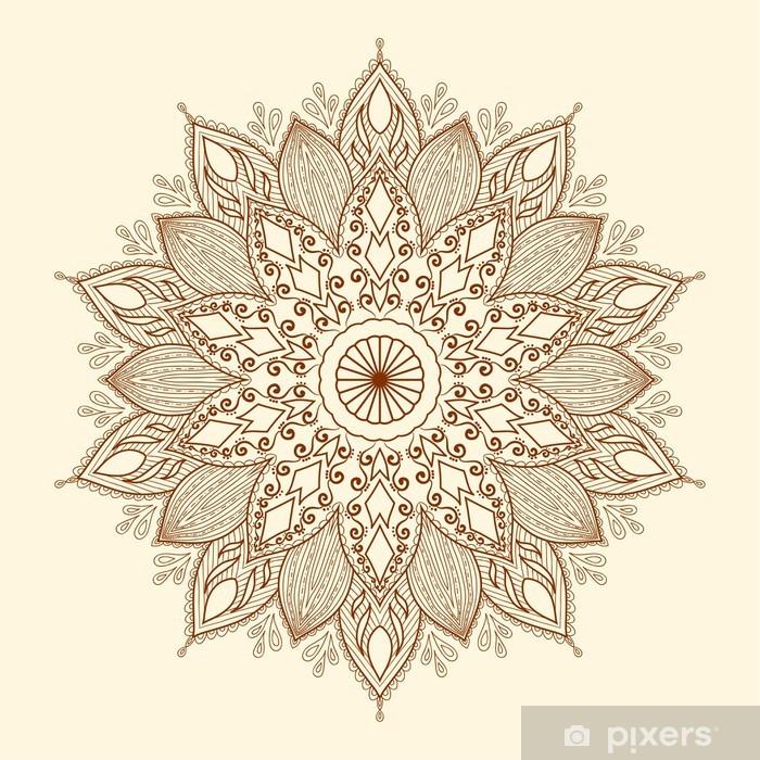 Mandala. Beautiful hand-drawn flower. Pixerstick Sticker - Styles