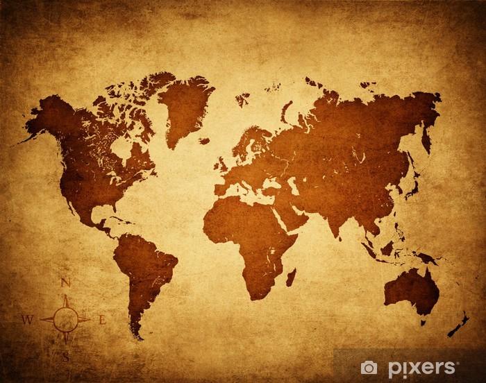 Fotomural Estándar Mapa mundi antiguo - Temas