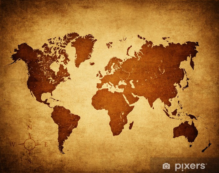 old world map Vinyl Wall Mural - Themes