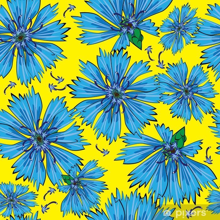 918a05a74da180 Fototapeta Niebieski chaber szwu kwiaty • Pixers® • Żyjemy by zmieniać