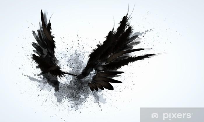 Fototapeta winylowa Czarne skrzydła - Tematy