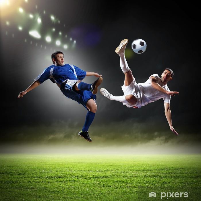Papier peint vinyle Deux joueur de football - Sports individuels