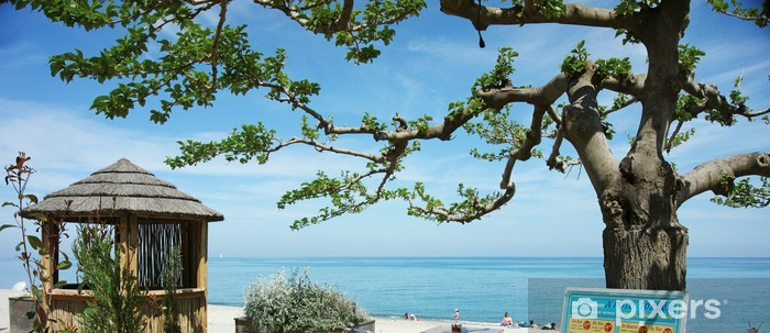 Sticker Pixerstick Plage de Costa Verde - Vacances