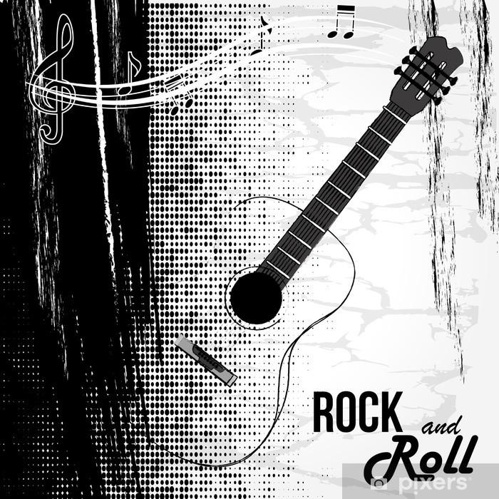 rock and roll design Pixerstick Sticker - Themes