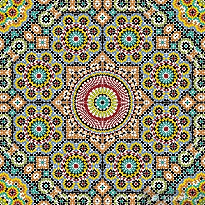 Pixerstick Sticker Akram Marokko Patroon Drie - Mozaïek