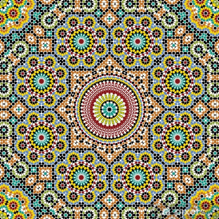 Vinilo para Nevera Akram Marruecos Patrón Tres - Mosaico