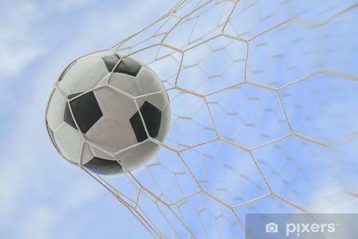 Fototapeta zmywalna Piłka w bramce - Sukces i osiągnięcia