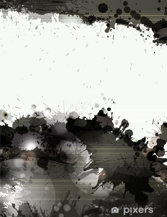 Vinyl Fotobehang Grunge achtergrond met zwarte ploetert en vlekken - Thema's