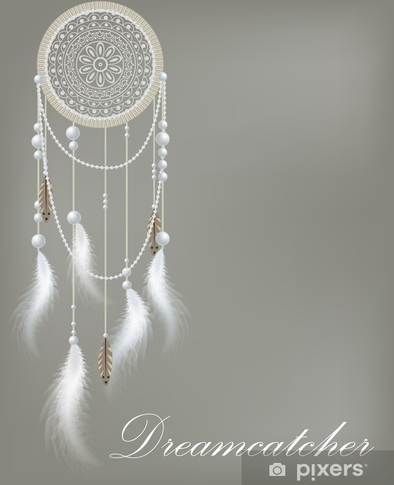 Dreamcatcher with lace and beads Vinyl Wall Mural - Birds