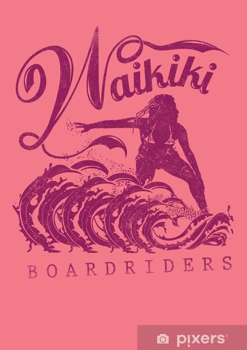 Vinyl-Fototapete Waikiki - Zeichen und Symbole