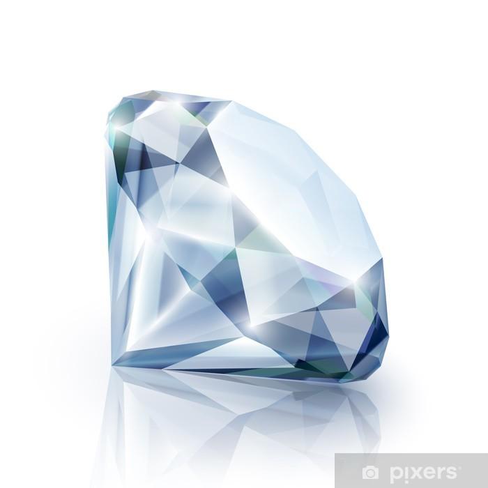 5b6a48e769fe54 Fototapeta winylowa Diament z refleksji na białym tle - eps10 - Moda