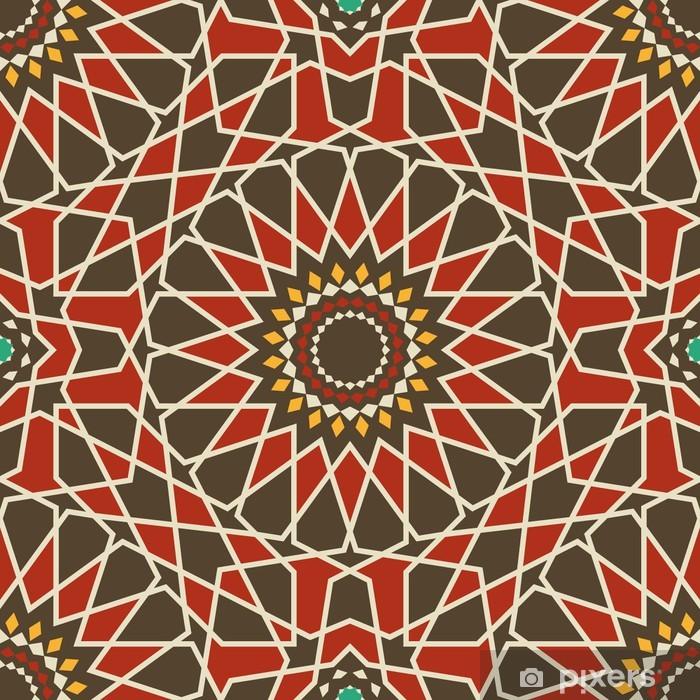 Papier peint vinyle Arabesque seamless dans le rouge et brun - Arrière plans