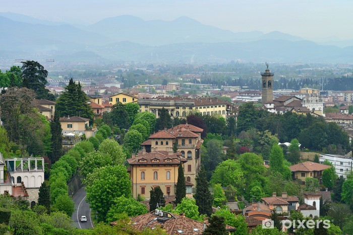 Nálepka Pixerstick Pohled na město Bergamo, Itálie - Evropa