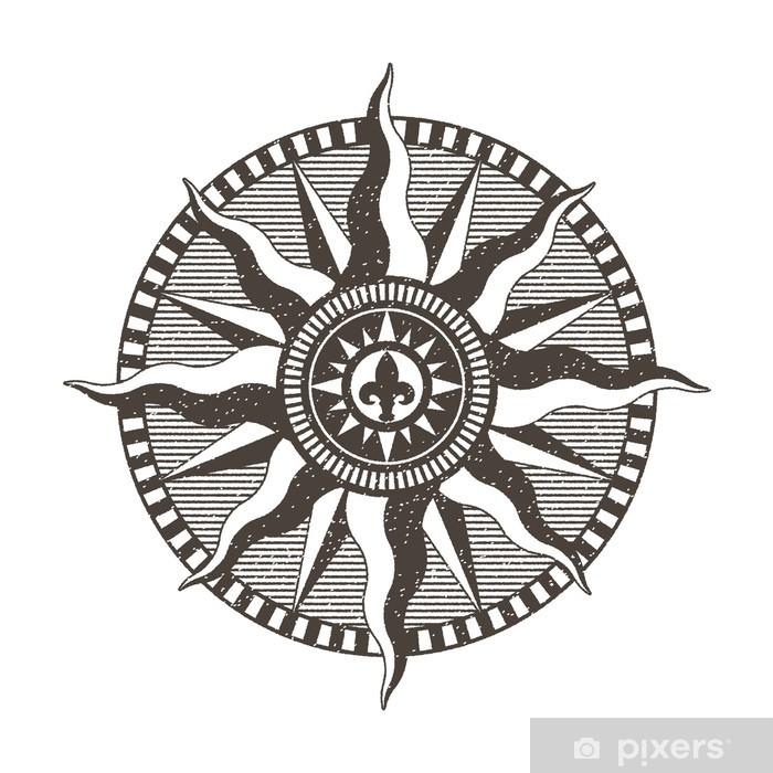 Naklejka Pixerstick Róża wiatrów - Znaki i symbole