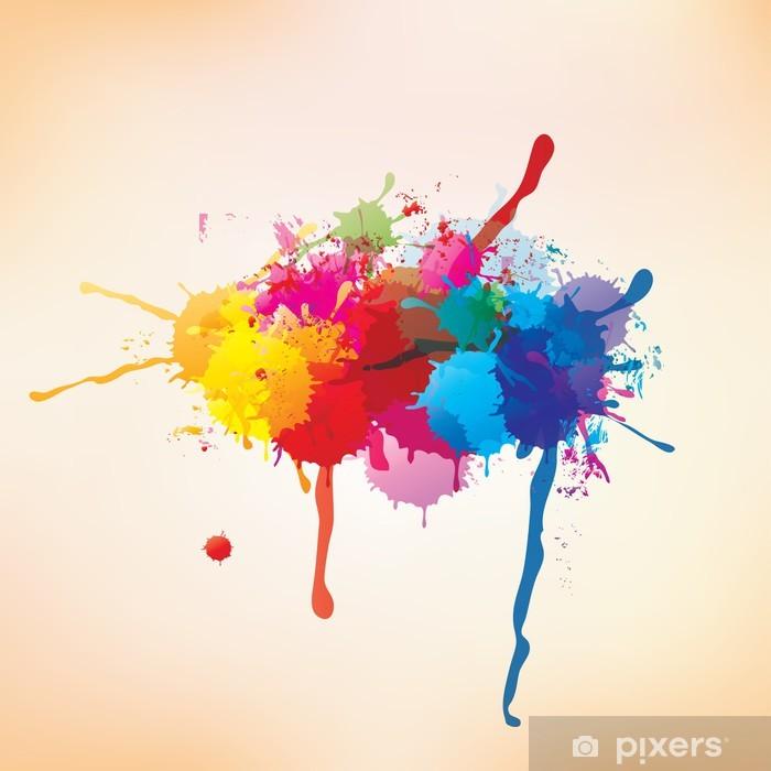 Plakát Splash na abstraktní pozadí - Umění a tvorba