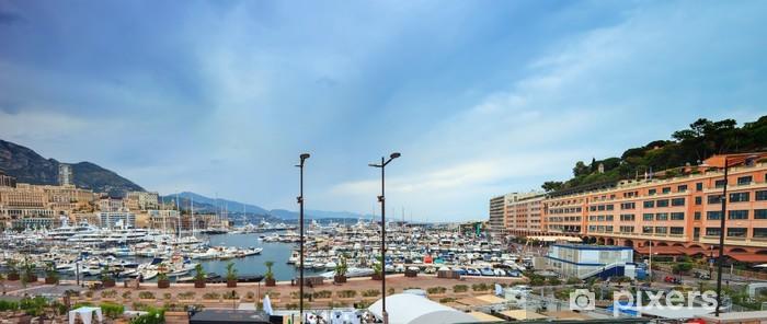 Fototapeta winylowa Monako Montecarlo marina port panorama. Lazurowe wybrzeże. Francja - Europa