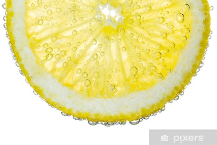 Fototapeta winylowa Lemon plaster na Pogodnie Fizzy Bubble tle wody - Przeznaczenia