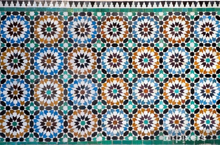 Naklejka Pixerstick Marokański rocznika tło płytek - Maroko