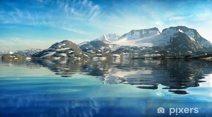 Naklejka Pixerstick Górskie jezioro - Pory roku