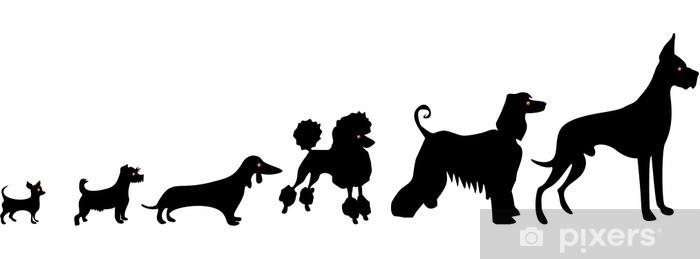 Zelfklevend Fotobehang Grappige honden silhouetten - Zoogdieren