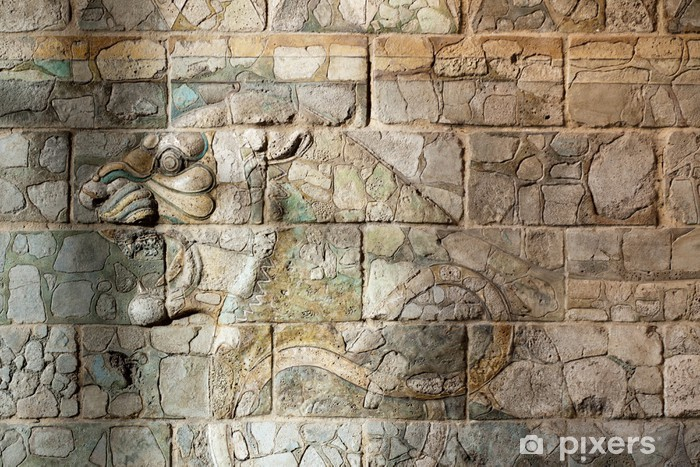 Fototapete Babylonien und Assyrien Antike Wandmalerei aus ...