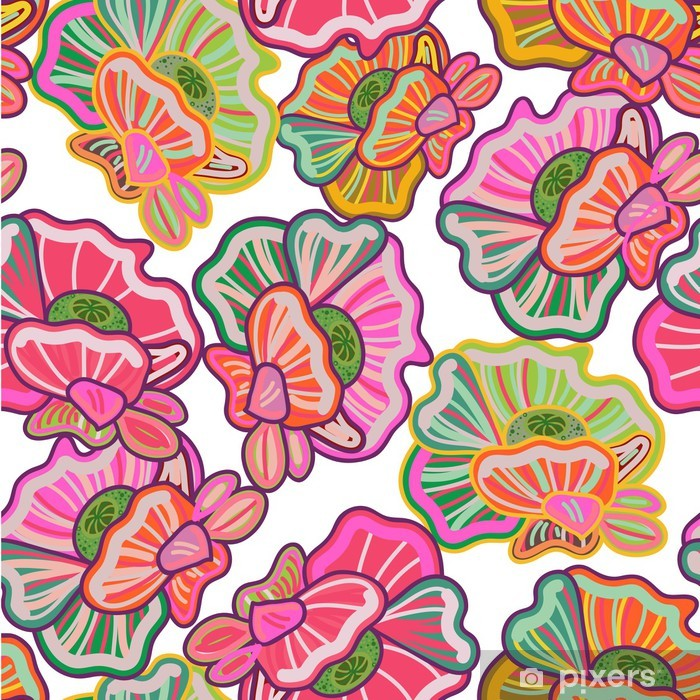 Carta da Parati in Vinile Struttura floreale - Sfondi