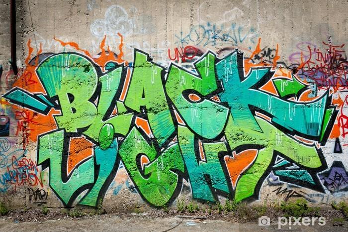 Papier peint vinyle Graffiti lettrage - Thèmes