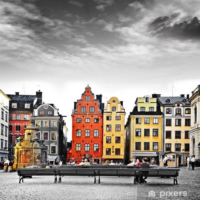 Stockholm, heart of old town, Pixerstick Sticker -