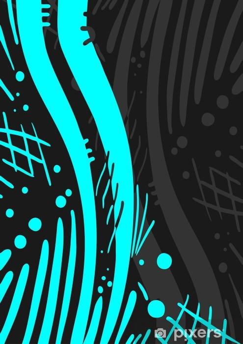 Sticker Pixerstick Couverture bleue et noire - Autres sentiments