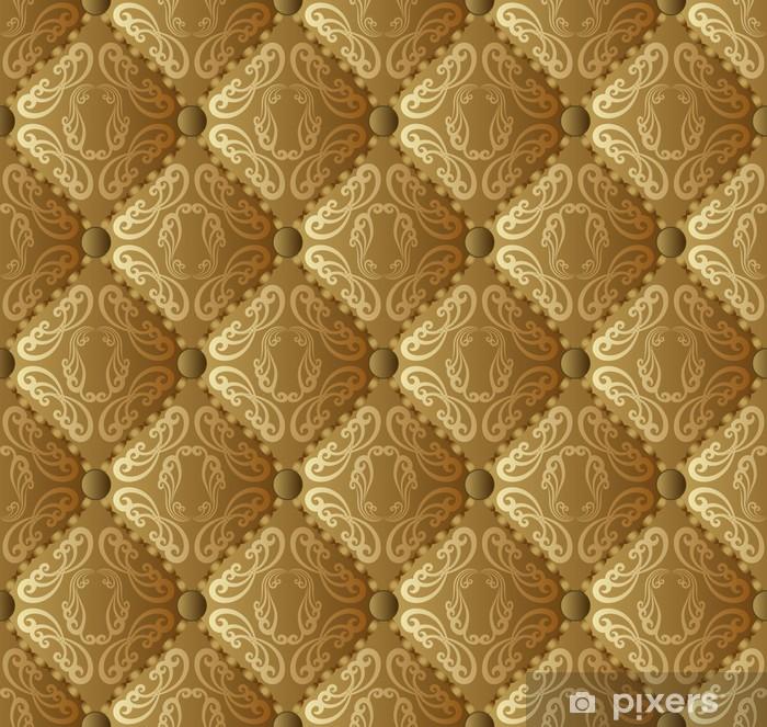 Pixerstick Sticker Goud en bruin behang naadloze - Achtergrond