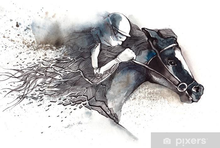 Mural de Parede em Vinil horse racing - Desportos Individuais