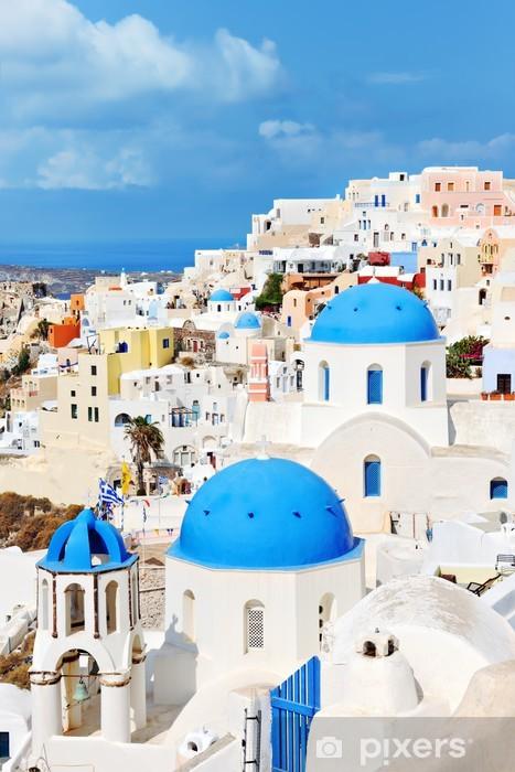 Naklejka Pixerstick Wieś Oia na wyspie Santorini - Europa