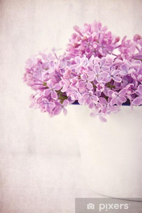 Carta Da Parati Bouquet Di Fiori Lilla Viola Su Sfondo Vintage