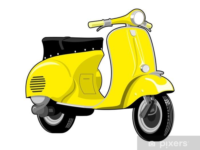 Aufkleber Roller Motorrad Jahrgang Pixerstick