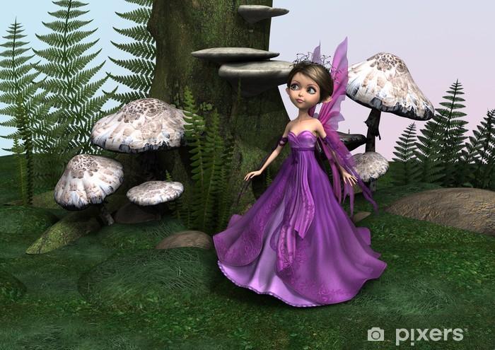 Fairy in Woodland Pixerstick Sticker - Destinations