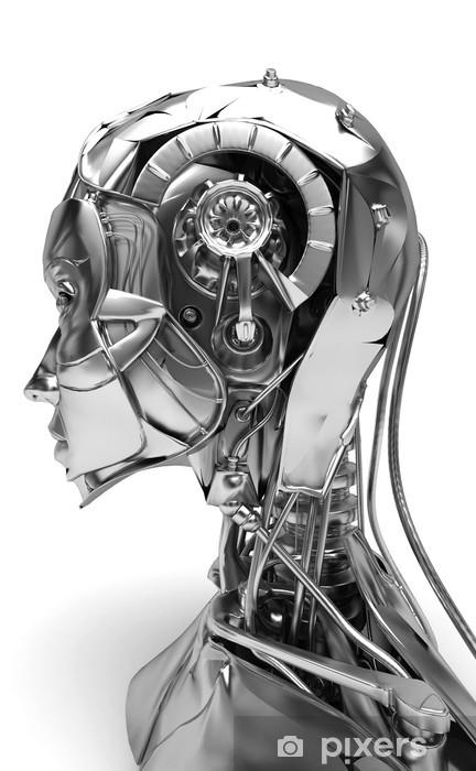 Fototapeta winylowa Cyborg, robot, android twarzy, 3d, komputer, komputer - Znaki i symbole