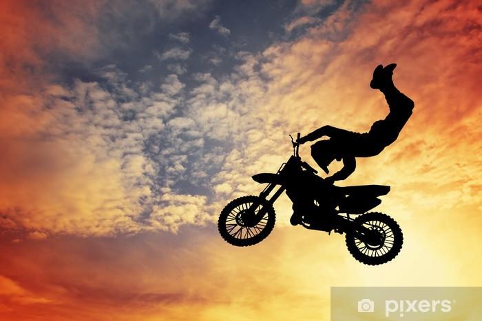 Papier peint vinyle Silhouette Motocross - iStaging