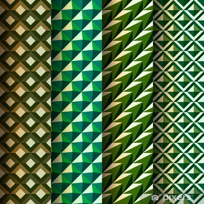 Plakát Nastavit bezešvé geometrických vzorů, vektor EPS 10 ilustrace. - Struktury