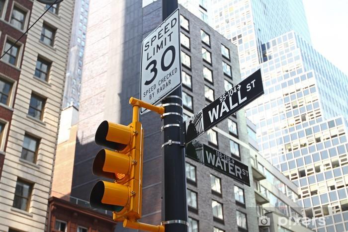 Sticker Pixerstick Wall Street signe - Villes américaines